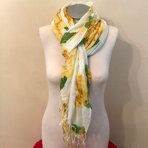 Isaac Mizrahi Live Yellow Rose Scarf